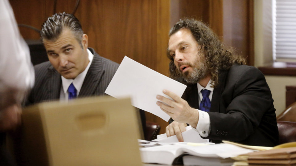 Photo -  Jay T. Silvernail is shown in court Wednesday. [Photo by Jim Beckel, The Oklahoman]