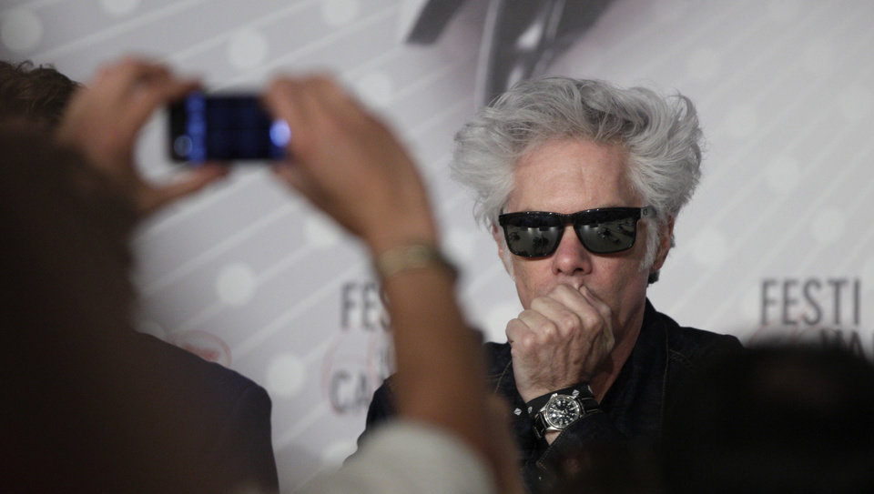 Photo - Director Jim Jarmusch is photographed prior to a press conference for the film Only Lovers Left Alive at the 66th international film festival, in Cannes, southern France, Saturday, May 25, 2013. (AP Photo/Virginia Mayo)