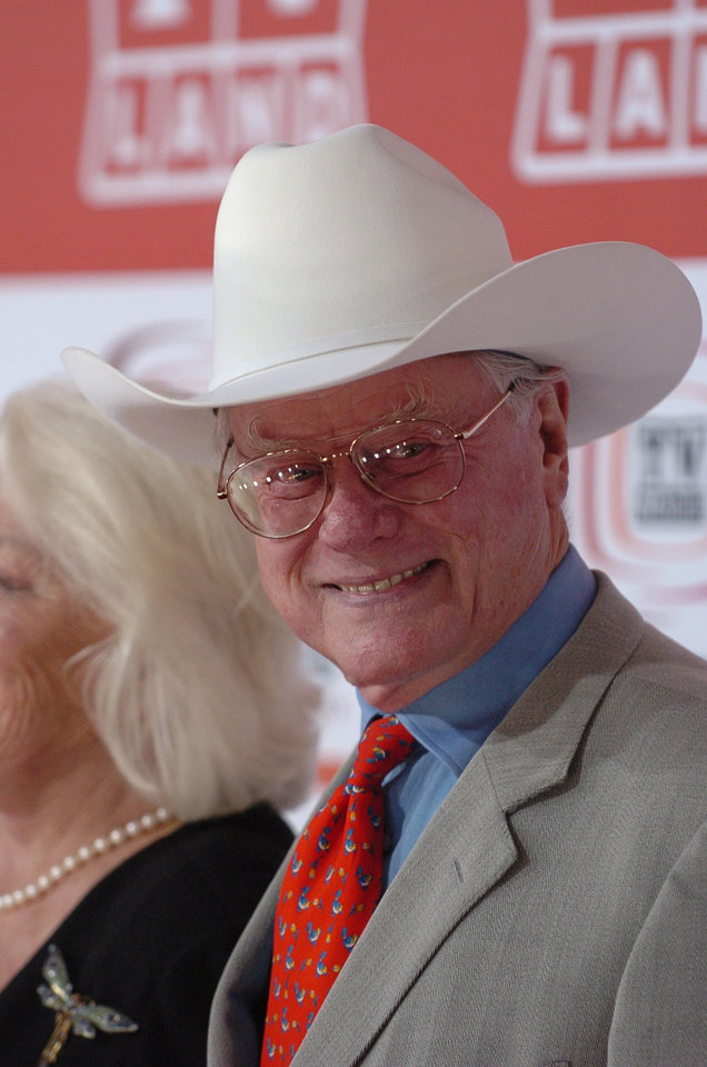 ACTOR: Larry Hagman walks the red carpet prior to the TV Land Awards Sunday night, March 19, 2006, in Santa Monica, Calif. (AP Photo/ LA Daily News/ Andy Holzman) ** MAGS OUT, NO SALES **