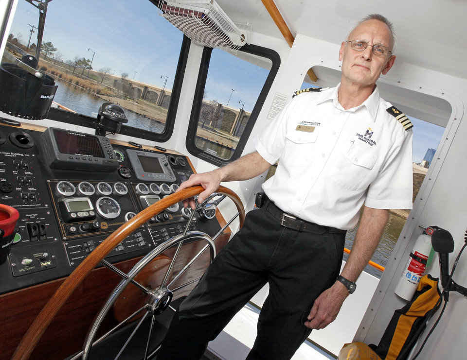 Photo - Jerry Lojka poses for a photo in the wheelhouse of The Devon Explorer in Oklahoma City on Feb. 22.  Photos by Nate Billings, The Oklahoman