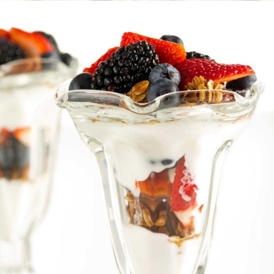 Photo -  Granola and Yogurt Parfaits from the Made in Oklahoma Coalition. [Photo provided]