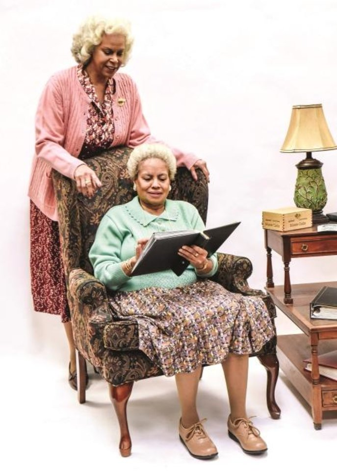 Photo -  Terry Burrell, top, portrays Bessie and  Julia Lema as Sadie in Lyric Theatre's production of
