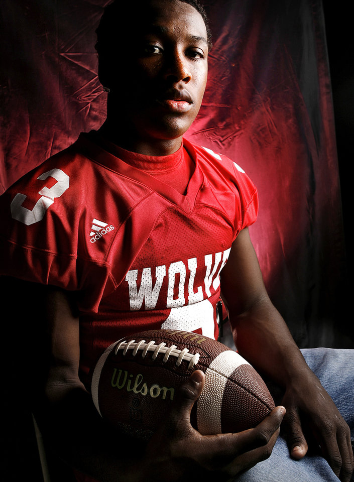 Davis High School's La'Quentin Black All State Defensive Back. 
