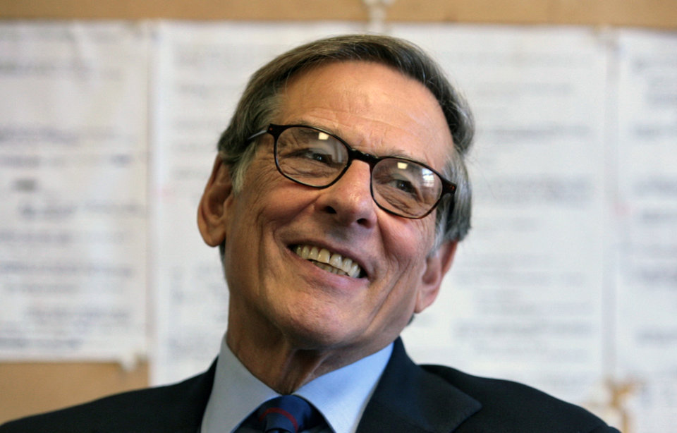 Photo - FILE - In this Aug. 20, 2008 file photo, author and biographer Robert Allan Caro smiles during an interview in New York. Caro, Stephen King and Nora Roberts are among the hundreds of authors who have added their names to an online letter criticizing Amazon.com for restricting access to works published by Hachette Book Group.(AP Photo/Bebeto Matthews, file)