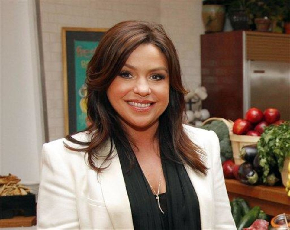 FILE - This March 23, 2012 file photo originally released by Ziploc shows TV personality Rachael Ray at the Ziploc-sponsored event in New York. Ray is donating $500,000 donation to help the American Society for the Prevention of Cruelty to Animals set up a central shelter for lost or hurt pets and families struggling to rebound from Superstorm Sandy.  (AP Photo/Ziploc, Gary He)