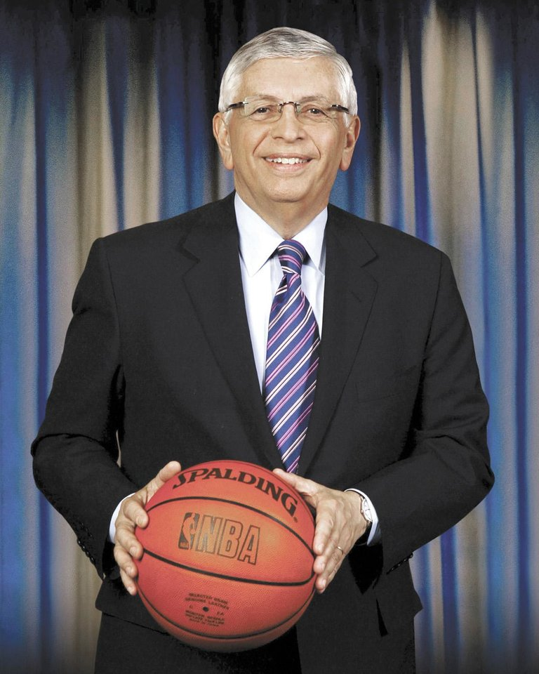 Photo - Hall of Fame presenter David Stern. ORG XMIT: KOD