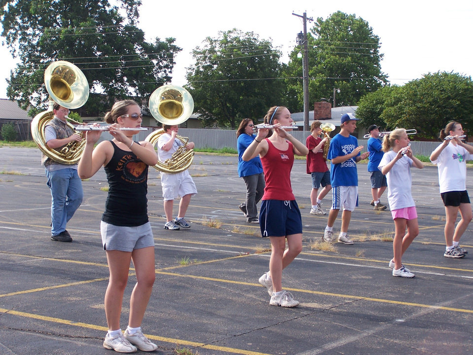 The Harrah Panther Marching Band in practice.<br/><b>Community Photo By:</b> Bessie Jackson<br/><b>Submitted By:</b> Audrey, Harrah