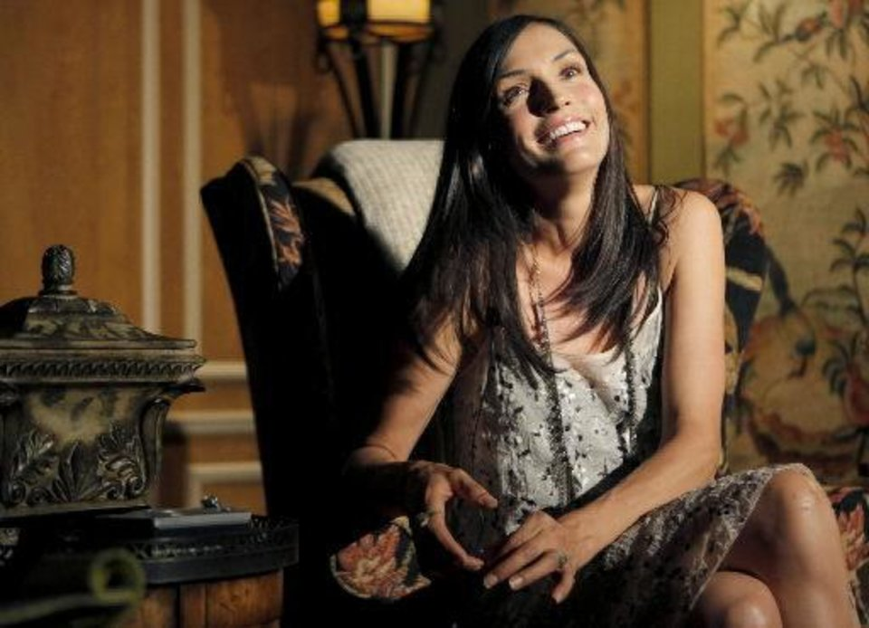 Photo - Actress turned writer-director Famke Janssen talks about filmimg the movie