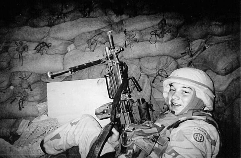 Army Pvt. Jerod R. Dennis, shown in full battle gear somewhere in Afghanistan, was killed in 2003 in a battle with rebel forces. PHOTO PROVIDED BY THE DENNIS FAMILY PROVIDED