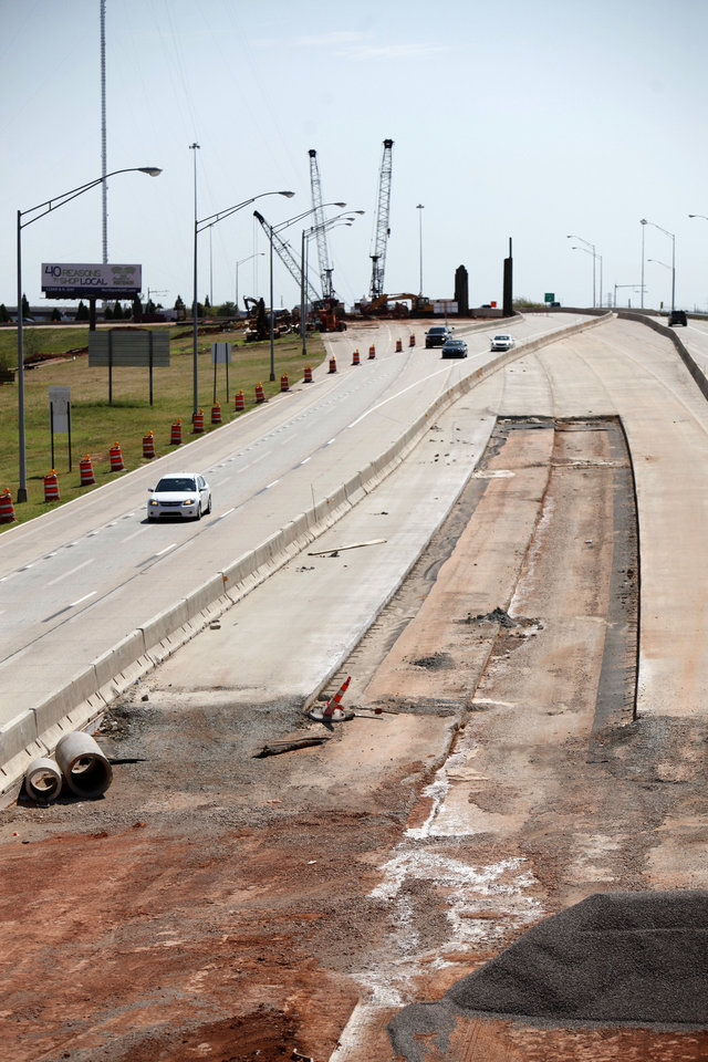 Construction is proceeding in the widening of the Kilpatrick Turnpike in Oklahoma City, OK, Saturday, September 1, 2012,  By Paul Hellstern, The Oklahoman
