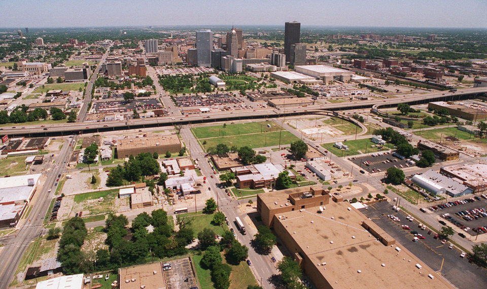 Photo - Downtown Oklahoma City in 1998, as shown in this photo, was very different from what it is in 2012. Photo provided by George R. Wilson