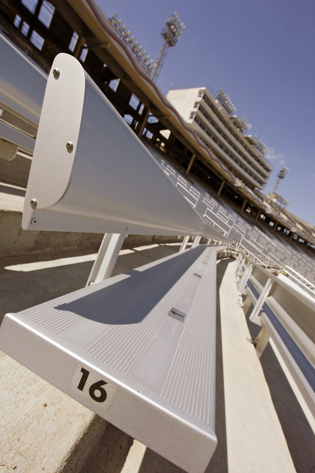 Renovations to the Cotton Bowl's expanded seating on display to the media on Wednesday, Sept 17,  2008, in Dallas, Texas.