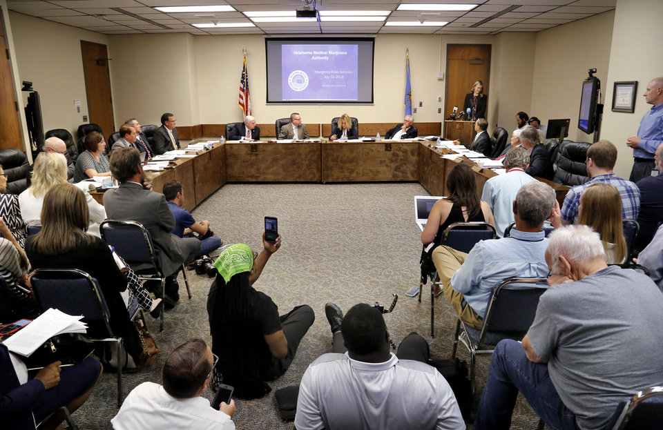 Photo -  The Oklahoma State Department of Health voted at its meeting July 10 to ban sales of smokeable forms of medical marijuana and to require dispensaries to hire a pharmacist. [Photo by Jim Beckel, The Oklahoman Archives]