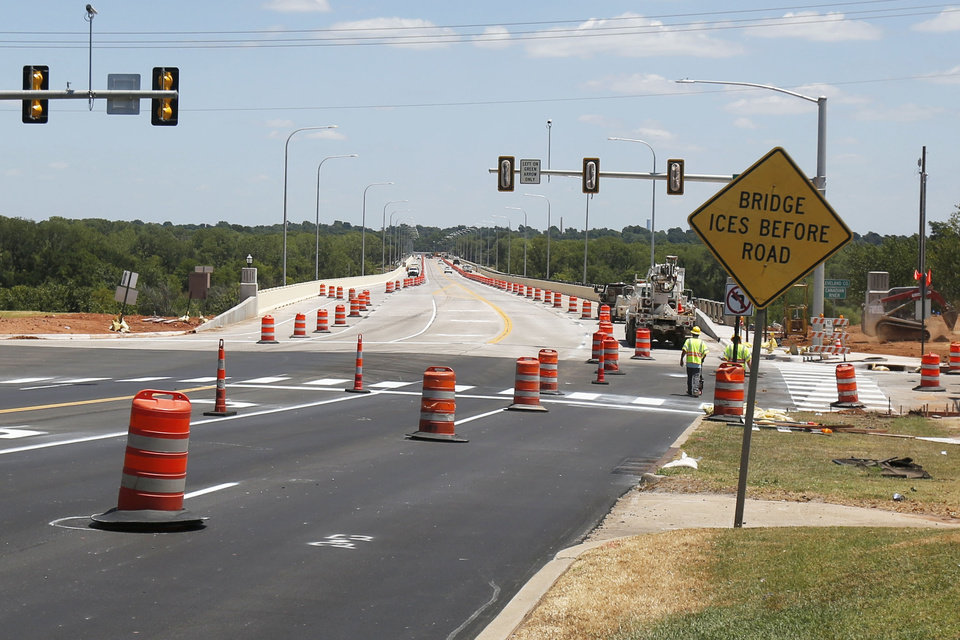 Photo -  The new bridge between Purcell and Lexington is open. [Paxson Haws/The Oklahoman]