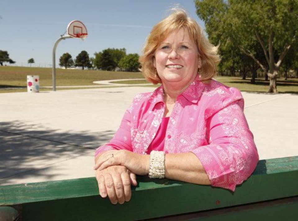 Jeanna Daniel, president of Riverpark Neighborhood Association, stands in the community park in the southwest Oklahoma City neighborhood. OKLAHOMAN ARCHIVE PHOTO BY PAUL HELLSTERN PAUL HELLSTERN