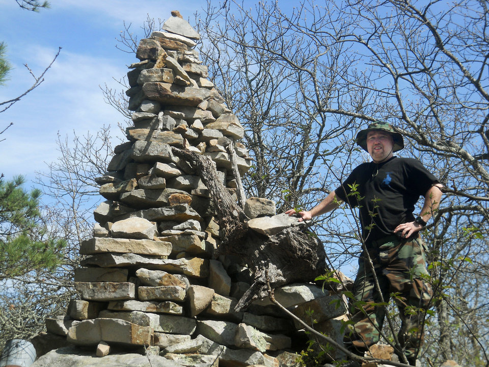Photo - Michael Olson, a former Marine, and partner Joseph Lambert operate Survival First Wilderness Survival School. He is a chef in Oklahoma City. Photo PROVIDED