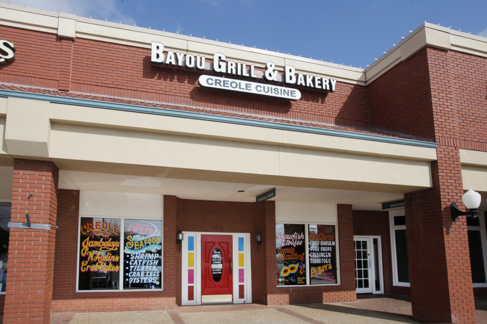 Photo - The Bayou Grill and Bakery in Edmond.  PAUL B. SOUTHERLAND - THE OKLAHOMAN