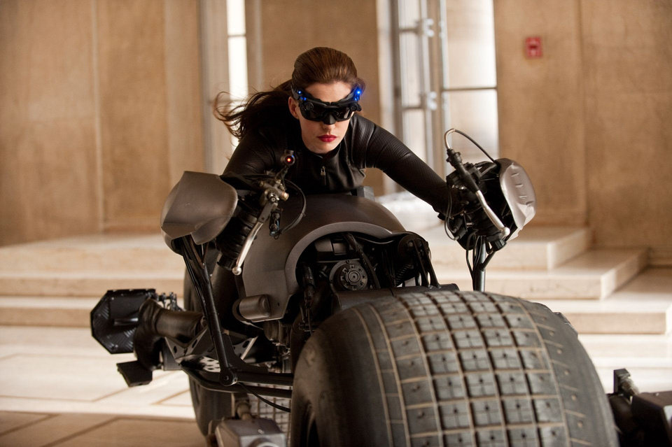 "Anne Hathaway plays Catwoman in Warner Bros. Pictures' and Legendary Pictures' action-thriller ""The Dark Knight Rises."" <strong>Ron Phillips</strong>"