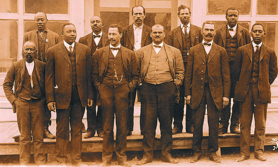 A historic photo of members of the town council of a once-thriving Boley.  PHOTO PROVIDED