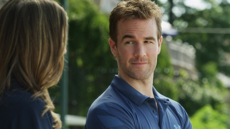 "Sarah Megan Thomas and James Van Der Beek star in ""Backwards."" Dada Films Photo"