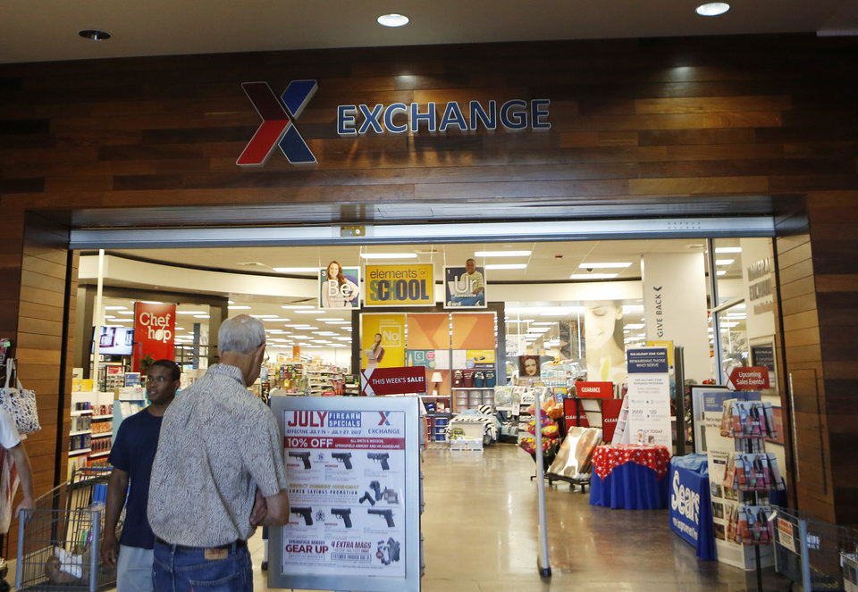 Photo -  Exchange stores like this one at Tinker Air Force Base are used by active duty and retired members of the military. Starting Saturday, the business will allow honorably discharged veterans to shop there through its online site. [The Oklahoman Archives]