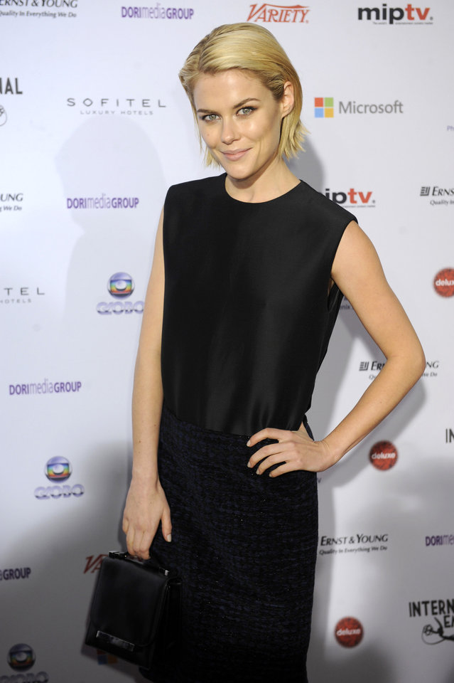 Photo -   Australian actress Rachael Taylor arrives for the 40th International Emmy Awards, Monday, Nov. 19, 2012 in New York. (AP Photo/Henny Ray Abrams)