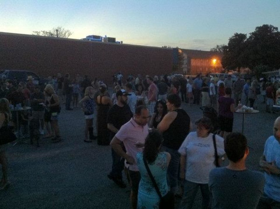 A large crowd was already gathered and enjoying the inaugural H&8th outdoor food market Friday night when 27 inspectors, police and agents raided the event. <strong>Provided</strong>