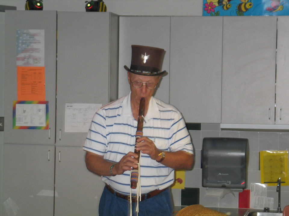 Ron Smithee is now taking flute lessons--demonstration at EOC Tech, CDC Community Photo By: K. Erbin, Director of Center Operations Submitted By: Karen, Harrah