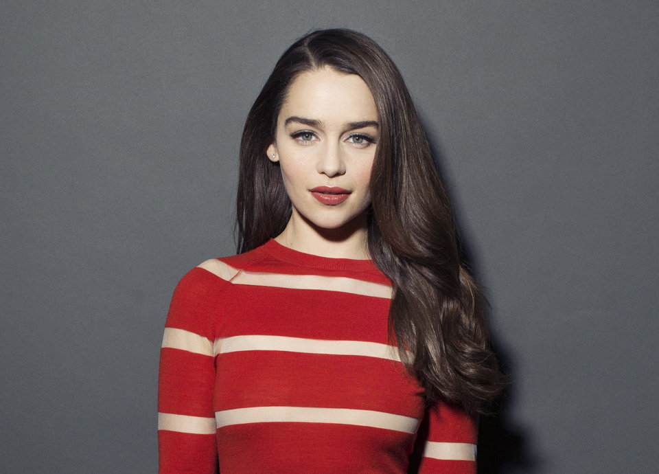 Photo - This March 14, 2013 photo shows British actress  Emilia Clarke posing for a portrait in New York. Clarke, best known for her role in the HBO series,