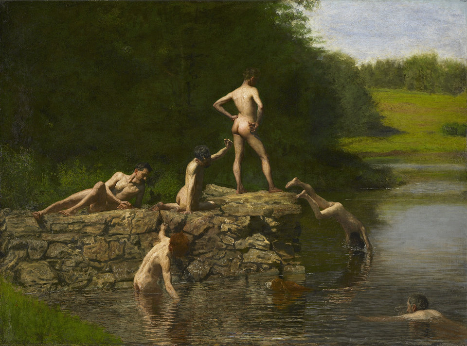 Photo -   This undated photo provided by the Amon Carter Museum of American Art, shows Thomas Eakins', Swimming. The painting will be included in an exhibit opening next year at the Dallas Museum of Art that will feature almost all of the works of art gathered from museums and prominent Fort Worth citizens for the hotel suite John F. Kennedy and first lady Jacqueline Kennedy stayed in the night before he was assassinated. (AP Photo/ Amon Carter Museum of American Art)