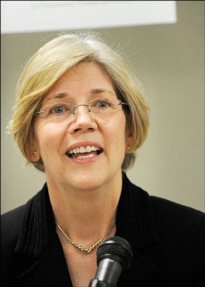Photo - Elizabeth Warren , 2011 inductee into the Oklahoma Hall of Fame.  Provided