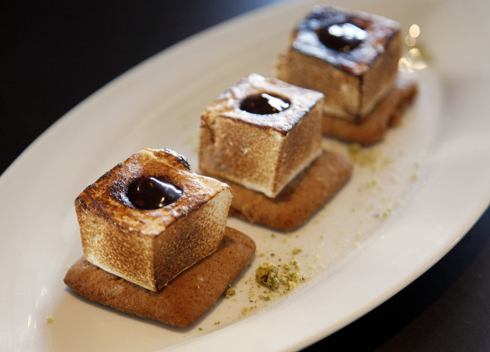 Photo - S'mores at Flint, the new restaurant inside the Colcord Hotel.  NATE BILLINGS - THE OKLAHOMAN