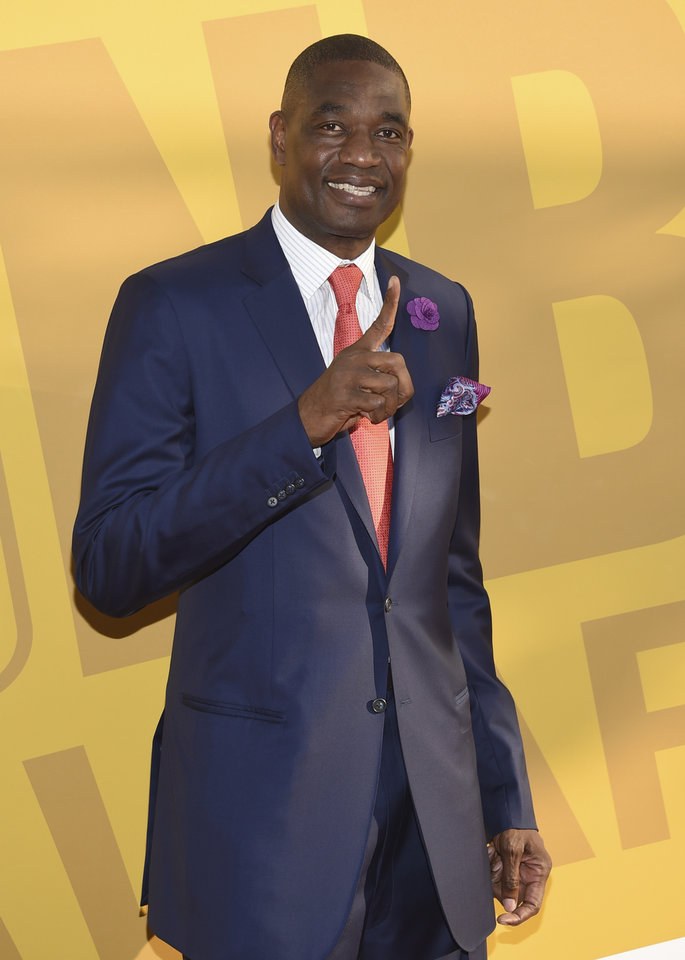 Photo - Dikembe Mutombo arrives at the NBA Awards at Basketball City at Pier 36 on Monday, June 26, 2017, in New York. (Photo by Evan Agostini/Invision/AP)