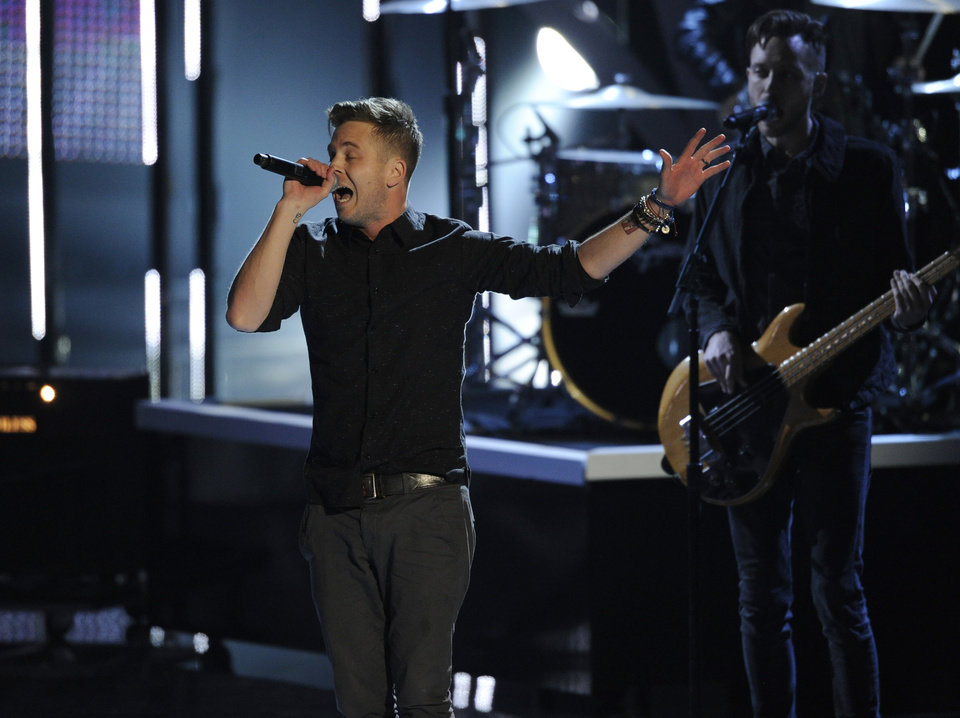 Photo - Ryan Tedder, of the musical group OneRepublic, performs