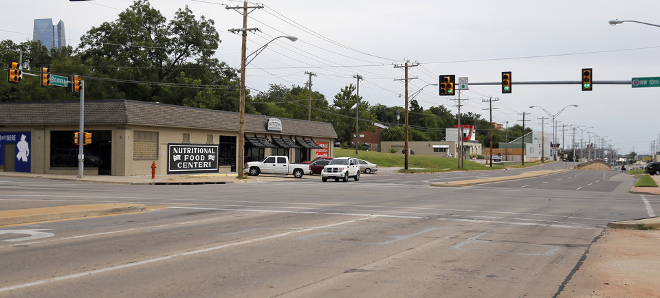 Photo -  A view of Classen Boulevard looking south from NW 10. Developers David Wanzer and Ben Sellers are betting redevelopment is set to occur all along Classen Boulevard between Reno Avenue and NW 13. Photo by Nate Billings, The Oklahoman   NATE BILLINGS -  NATE BILLINGS