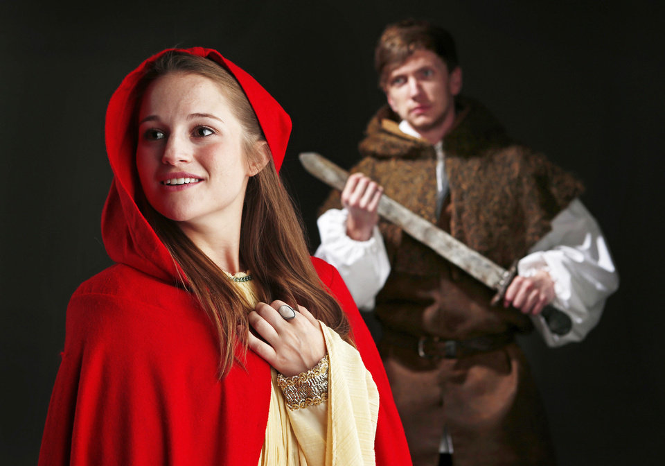 """Allyson Capetta and Mason Pain are among the cast of the Oklahoma Shakespeare in the Park production of """"Cymbeline"""" Photo by Bryan Terry, The Oklahoman"""