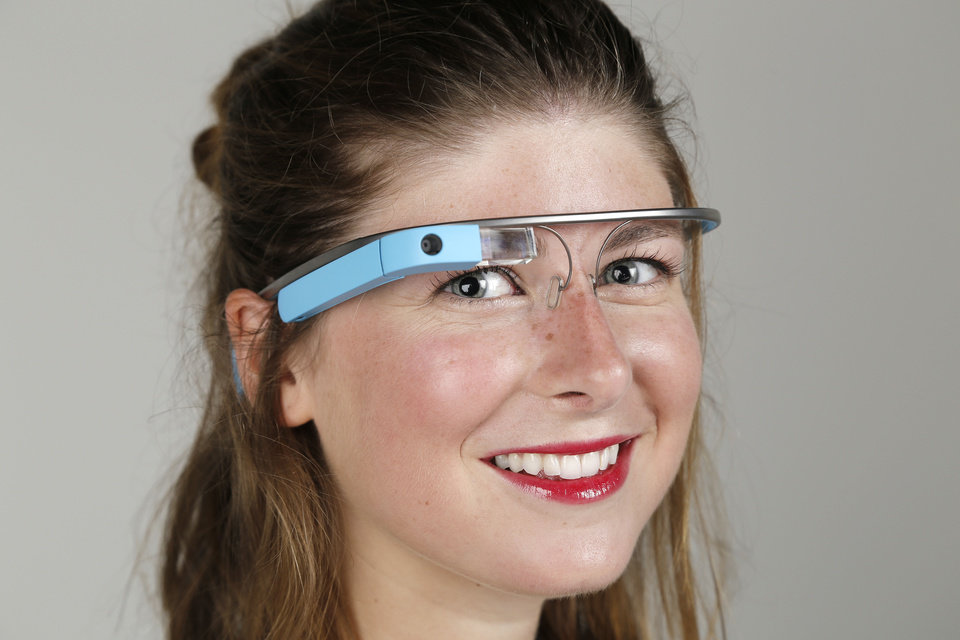 Callie Gordon wears Google Glass. PHOTO BY DOUG HOKE THE OKLAHOMAN <strong>DOUG HOKE</strong>
