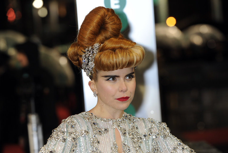 Photo - British singer-songwriter Paloma Faith arrives for the BAFTA Film Awards at the Royal Opera House on Sunday, Feb. 10, 2013, in London. (Photo by Jonathan Short/Invision/AP)