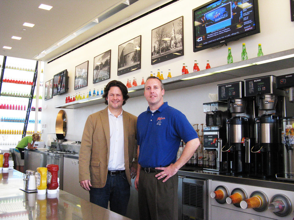 Photo - Keith Paul has joined with Marty Doepke, manager of POPS, to revamp the Route 66 cafe. Photo by Steve Lackmeyer, The Oklahoman