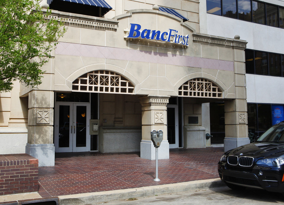 Photo - BUILDING EXTERIOR: BancFirst at Main and Broadway in downtown Oklahoma City Tuesday, May 7, 2013. Photo by Paul B. Southerland, The Oklahoman