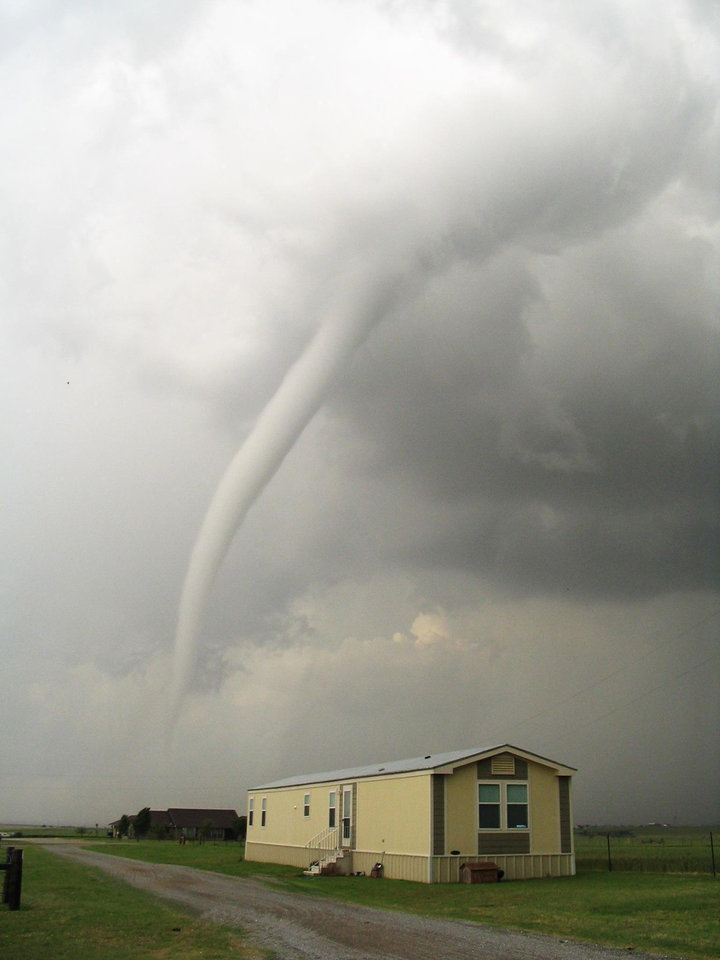 April 24, 2006 tornado west of El Reno, my house in the foreground<br/><b>Community Photo By:</b> Amy Brandley<br/><b>Submitted By:</b> amy,