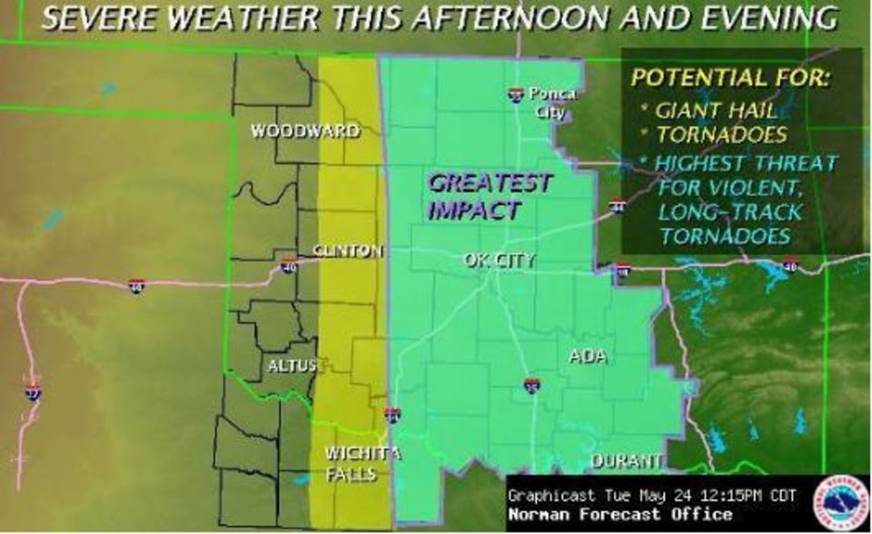 Photo - Image courtesy National Weather Service Norman