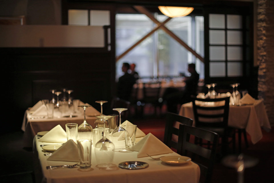 Photo - Interior of Mahogany Prime Steakhouse in downtown Oklahoma City. [Bryan Terry/The Oklahoman]