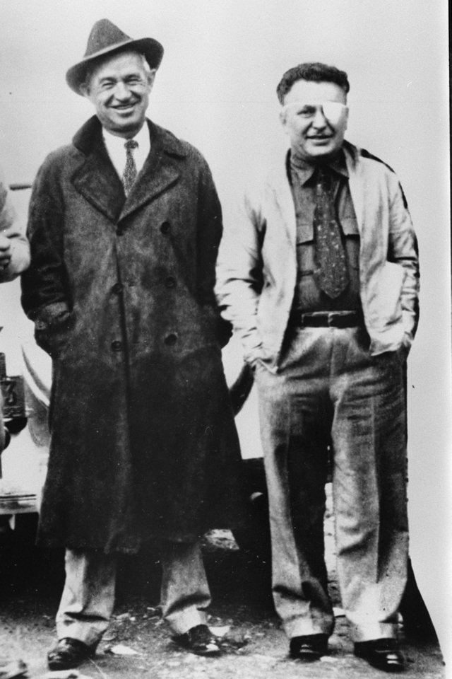 Photo -  Humorist Will Rogers and aviator Wiley Post are seen before their fateful flight to Alaska. [Photo Provided]