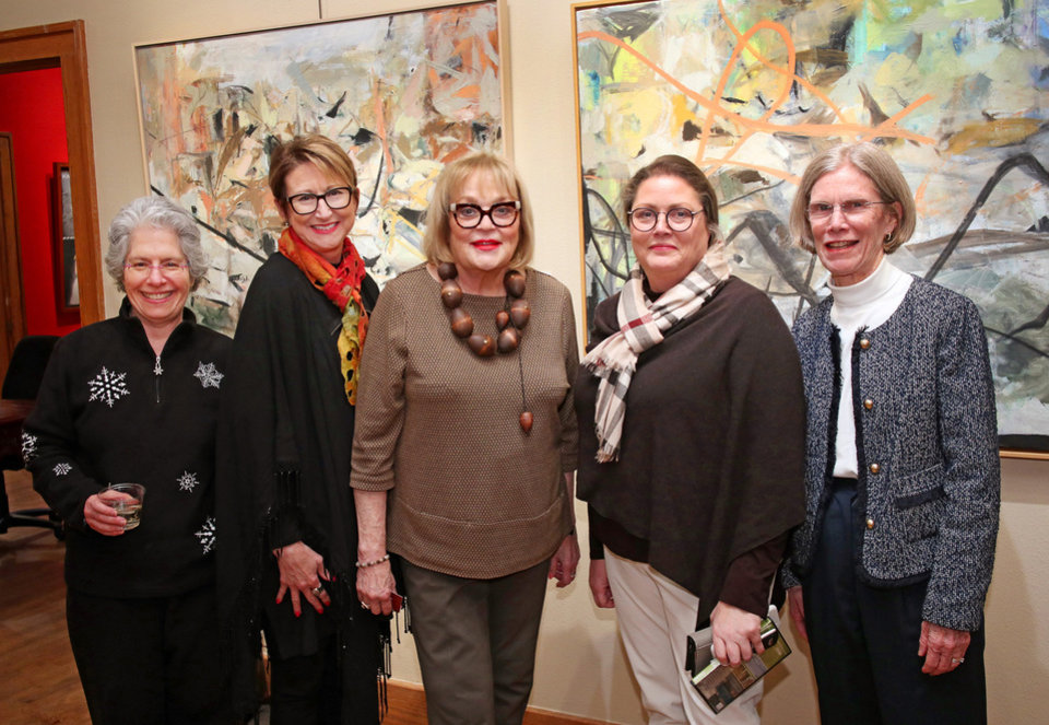 Photo - Sharon Neuwald, Meloyde Blancett, Joy Reed Belt, Sheryl Lovelady, Nancy Anthony. PHOTO BY DOUG HOKE, THE OKLAHOMAN