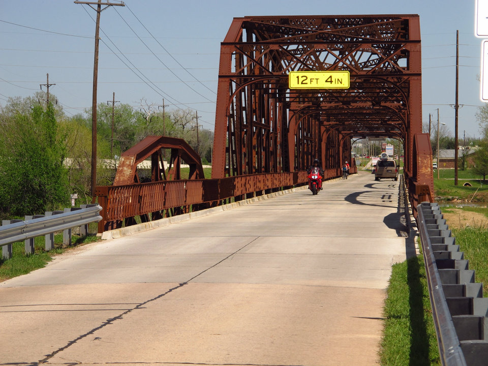 The old Route 66 bridge crossing the North Canadian River at the north end of Lake Overholser. What a treasure! Let's not take it for granted. Photo by John Wente