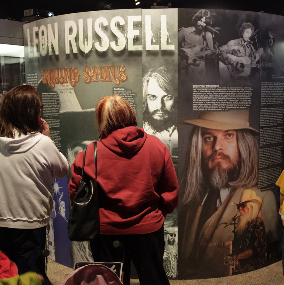 Photo - Leon Russell exhibit at the opening of