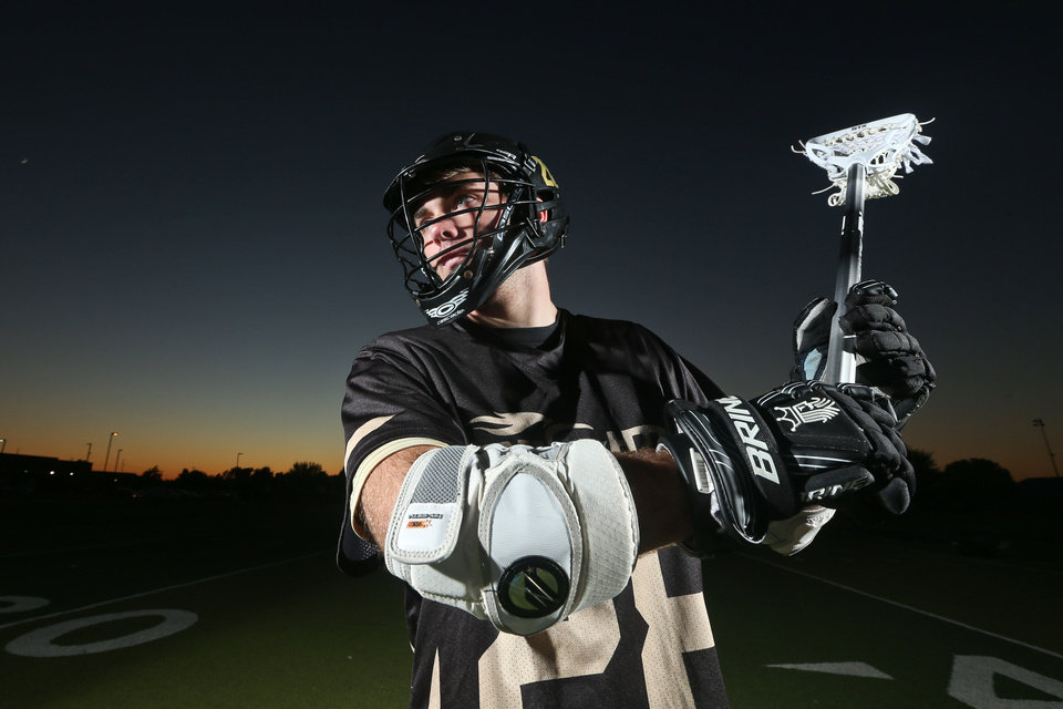 Jake Hobbs, who plays for the OKC Knights lacrosse team, signed to play at Lindenwood University, a Division II school in St. Charles, Mo. Hobbs is a senior at Edmond North. Photo courtesy David Prentice