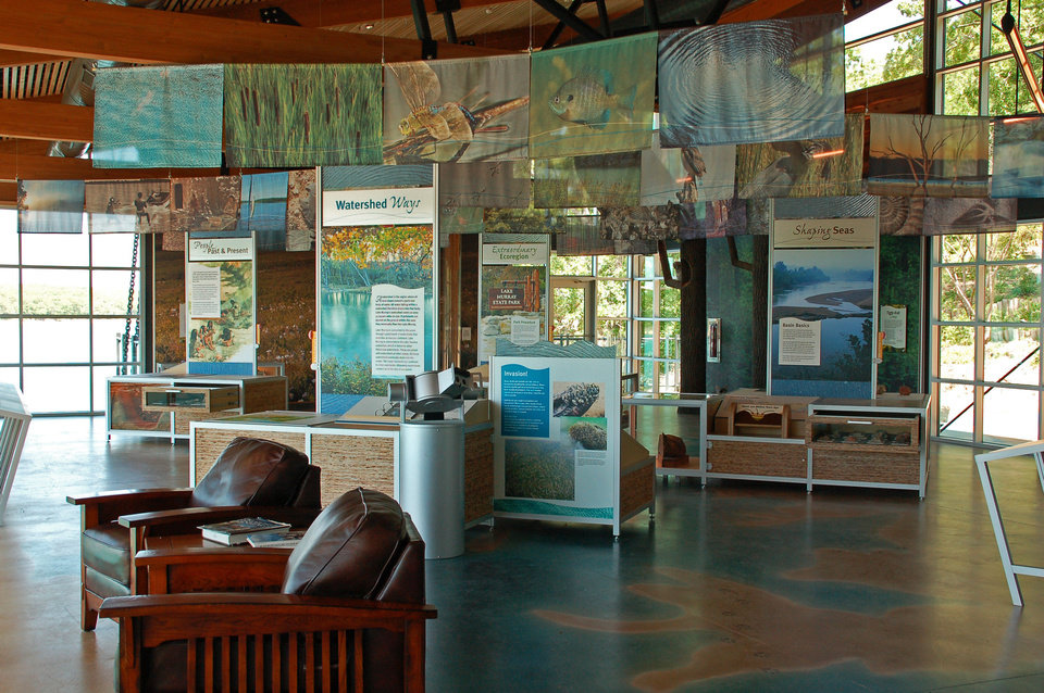 Colorful displays can be found in Lake Murray State Park\'s nature center. Photo provided Photo provided