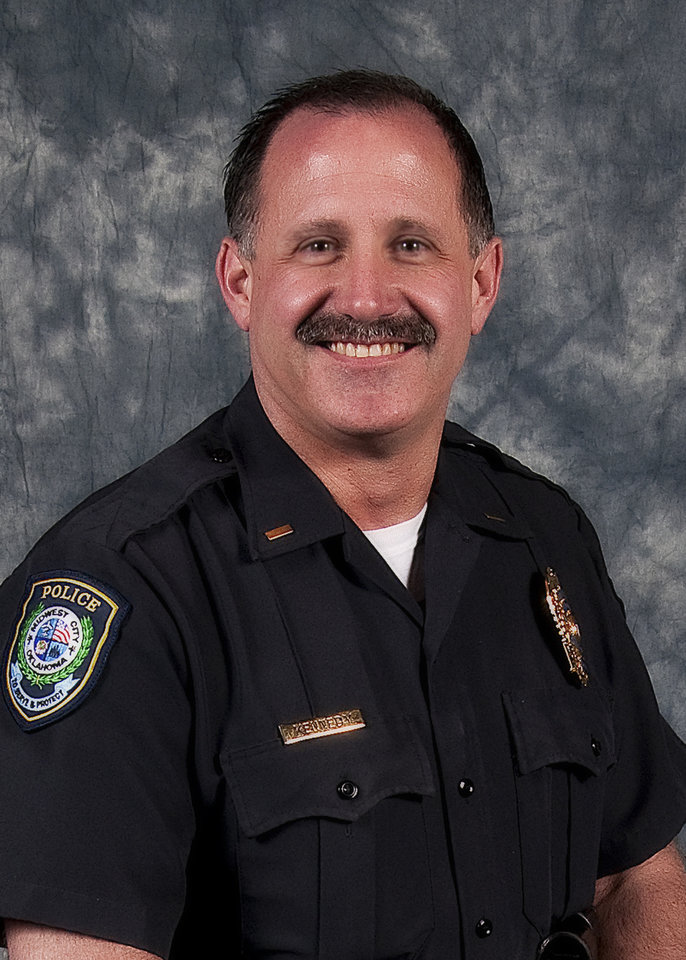 Photo -                  Midwest City police Capt. Jerry Kennedy